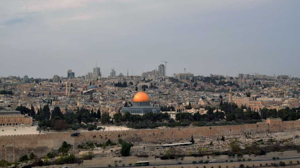 Temple Mount seen from the Mount of Olives