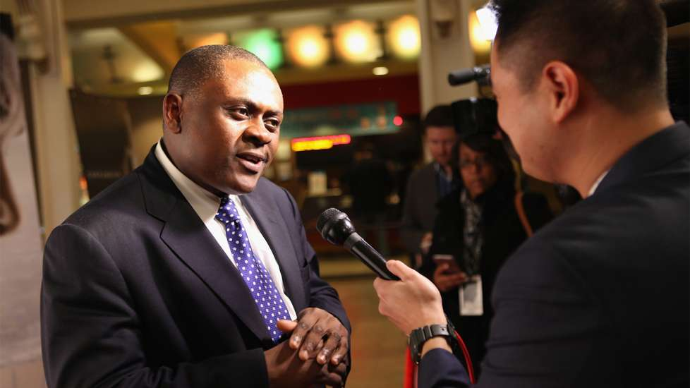 Dr. Bennet Omalu answers questions from the press