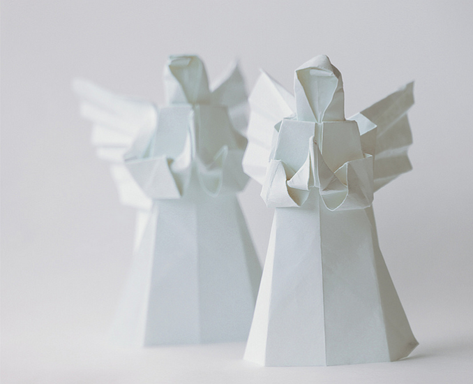 Origami angels.
