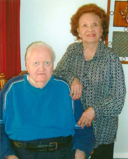 Pat Murphy and her husband, Joe, on her 90th birthday