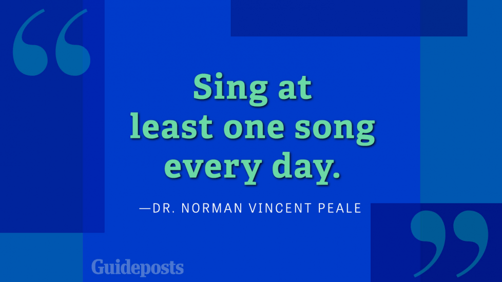 Sing at least one song every day.