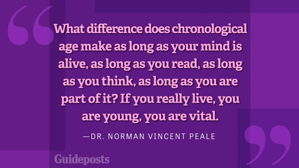 What difference does chronological age make as long as your mind is alive, as long as you read, as long as you think, as long as you are part of it? If you really live, you are young, you are vital.