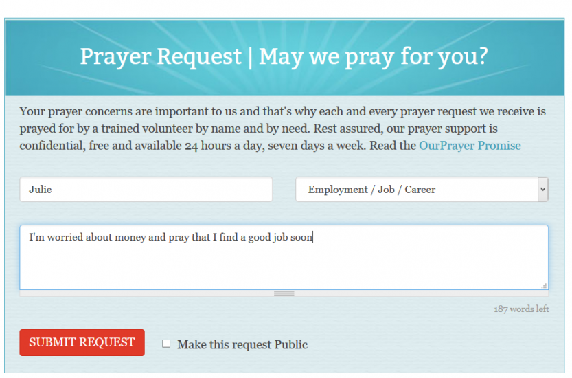 Guideposts OurPrayer prayer request submission