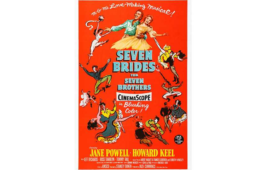 Film poster for Seven Brides for Seven Brothers (1954)