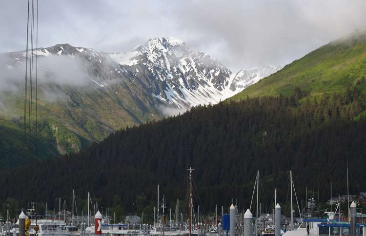 Seward Harbor in Alaska