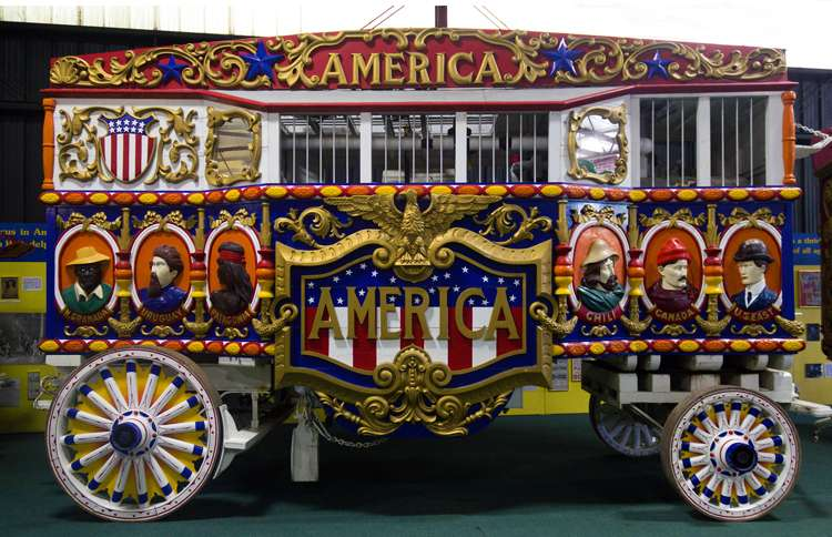 Guideposts: A restored 19th-century circus wagon at the Circus World Museum in Baraboo, Wisconsin