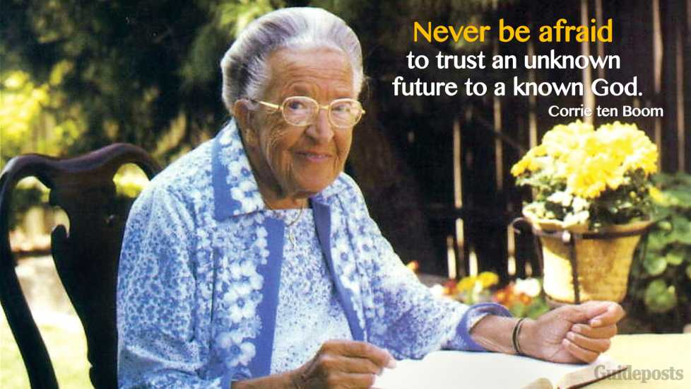 """Never be afraid to trust an unknown future to a known God."""
