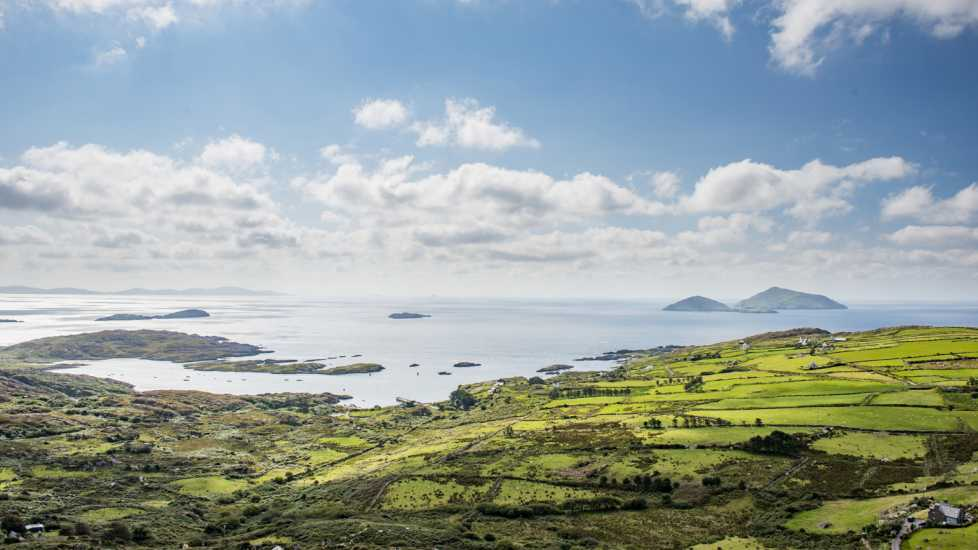 Skelling Islands from Ring of Kerry, Ireland