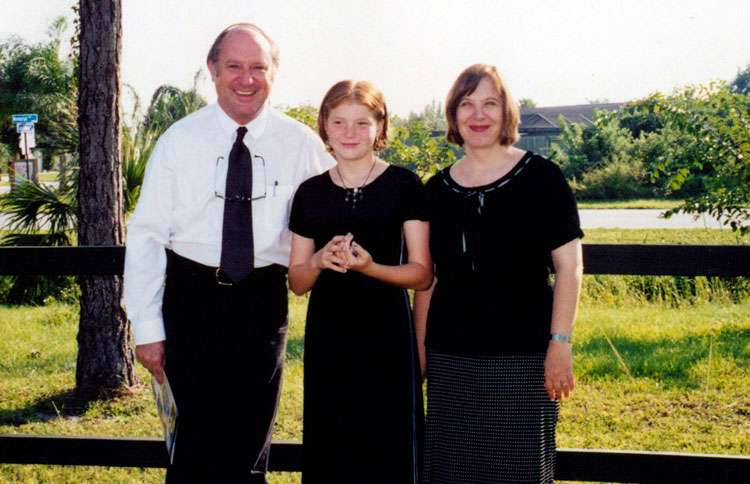Gay, Phil and Ashley in 1996, prior to her adotion