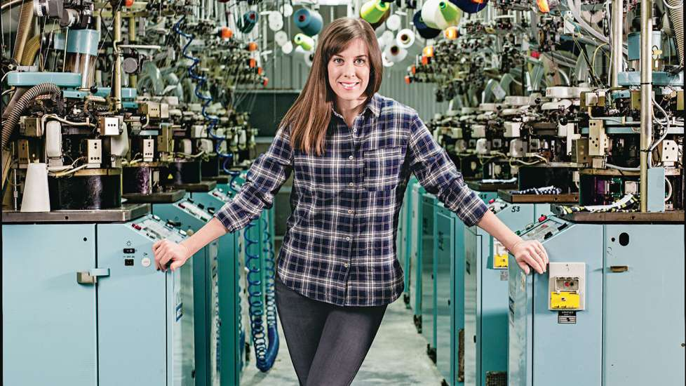 Gina Locklear oversees every step of sock manufacturing at the Emi-G Knitting mill
