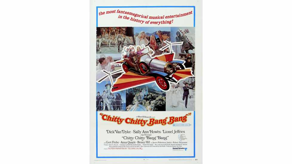 Dick Van Dyke and Sally Ann Howes Chitty Chitty Bang Bang, 1967 Poster.
