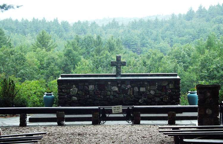 Guideposts: Established in 1945 to honor those who've served the United States, this tranquil cathedral on a hilltop has no walls, no roof. Just a beautiful sacred space for people of all faiths set amidst the beautiful pines of New Hampshire's scenic Mount Monadnock.