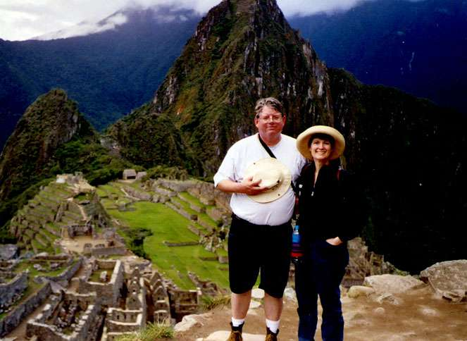 Kate at Machu Picchu with her husband, Mike
