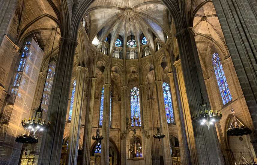 Barcelona Cathedral in Spain