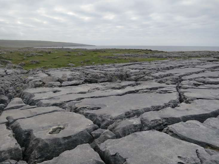 The Burren, never-ending rock formations in County Clare, Ireland.