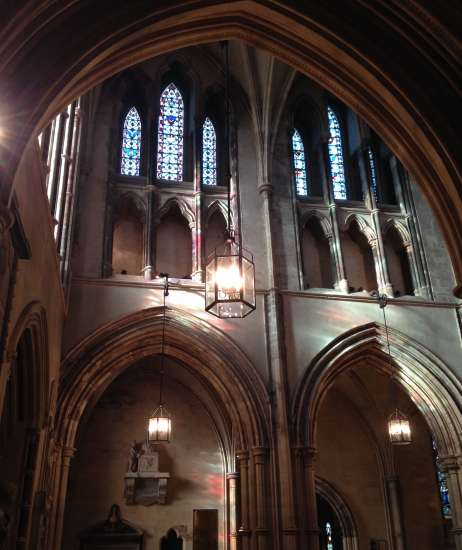 Mystical light at play at Christ Church Cathedral in Dublin, Ireland.