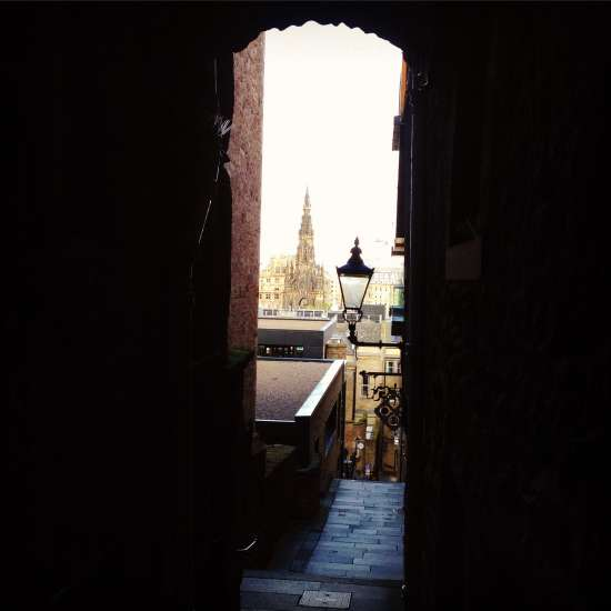 The Old Town of Edinburgh, Scotland, is filled with dark and mysterious closes, aka alleyways.