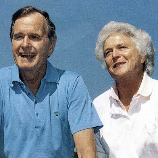 President George and former First Lady Barbara Bush