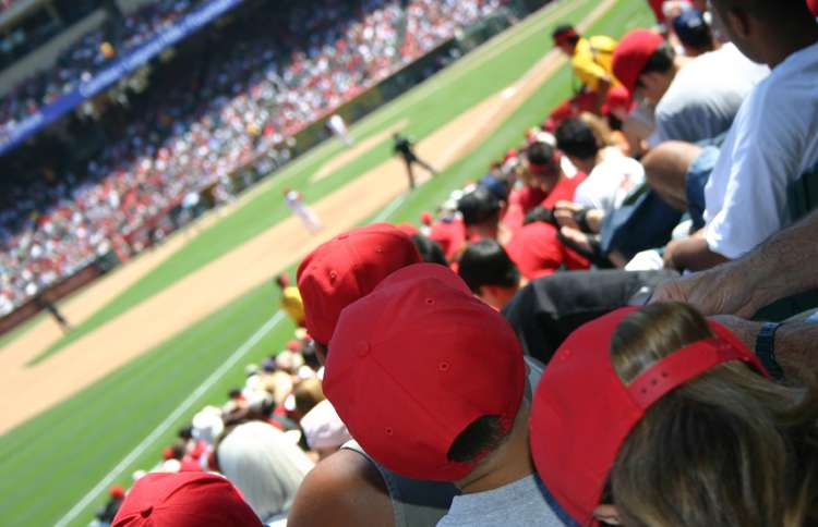 Guideposts: A packed ballpark cheers on the home team during a playoff game.