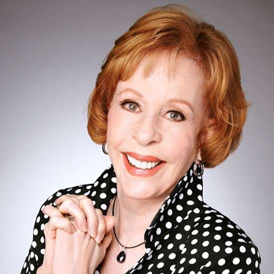 Actress, comedienne and author Carol Burnett