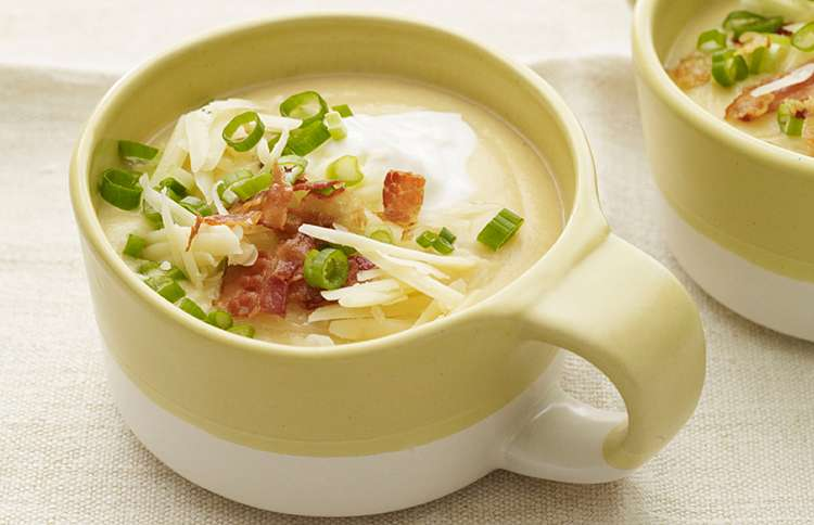 Guideposts: Melissa d'Arabian's Creamy Cauliflower Baked Potato Soup