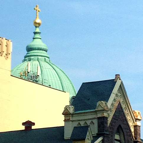 Guideposts: The Dome of Cathedral Basilica of Saints Peter and Paul on the Benjamin Franklin Parkway in Philadelphia.