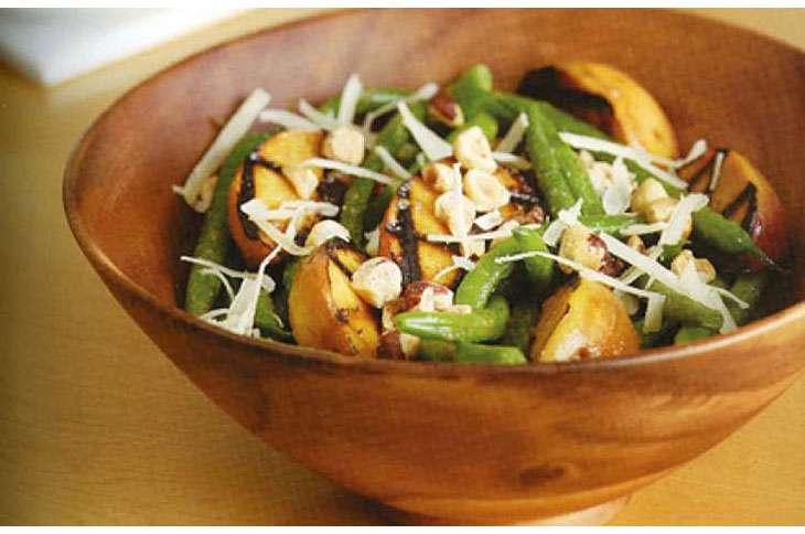 Guideposts: Green Bean and Grilled Peach Salad
