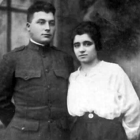Guideposts: Benjamin (Biago) DiSanto, who served stateside during WWI, with his wife, Rose.
