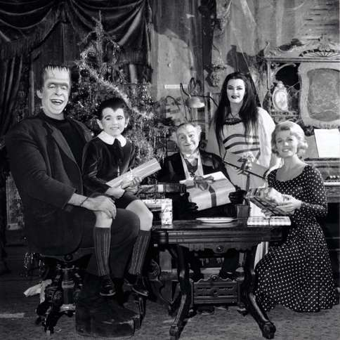 The Munsters scare up a large haul of Christmas presents.