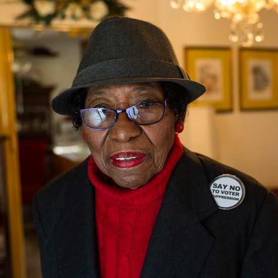 Voting rights activist Rosanell Eaton