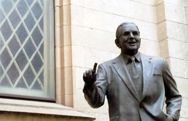 John M. Soderberg's bronzed statue of Norman Vincent Peale