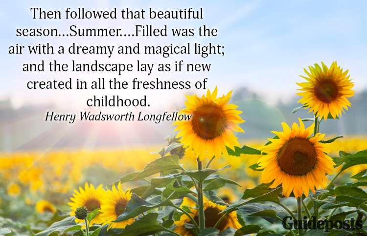 A summer quote from Henry Wadsworth Longfellow