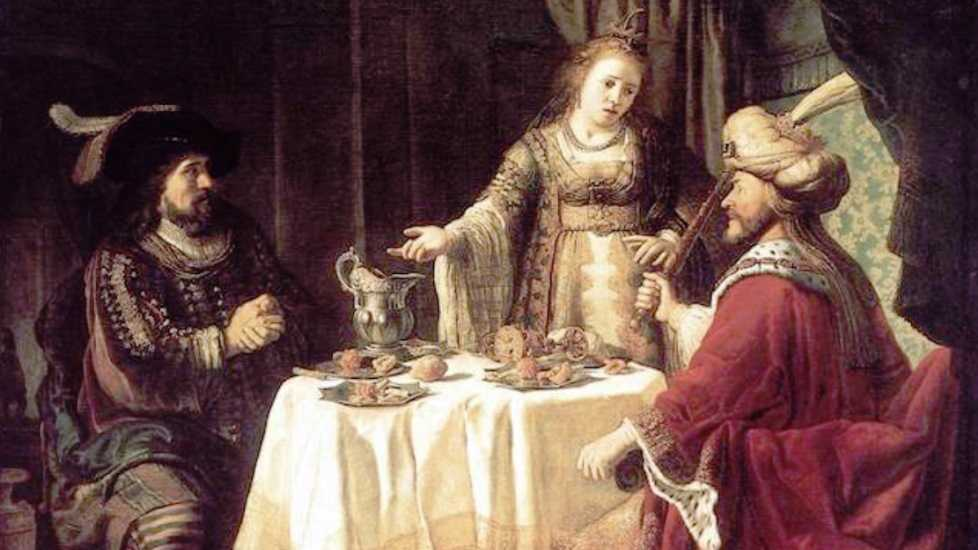 The Banquet of Esther and Ahasuerus by VICTORS, Jan