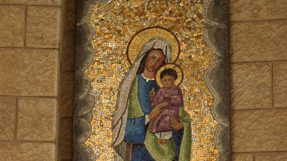 Mary and Jesus at the Church of the Annunciation, Photo credit: Brooke Obie
