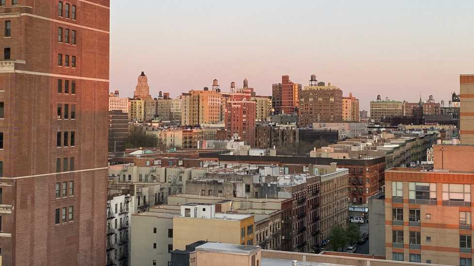 Easter morning sunrise in New York City, seen from my window.