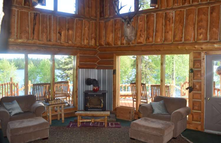 Inside Winterlake Lodge in Alaska