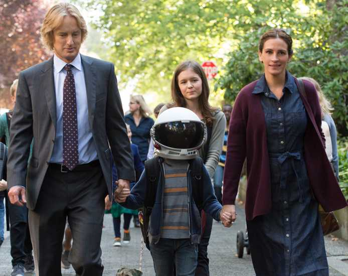 A promotional still from the movie 'Wonder,' starring Owen Wilson and Julia Roberts