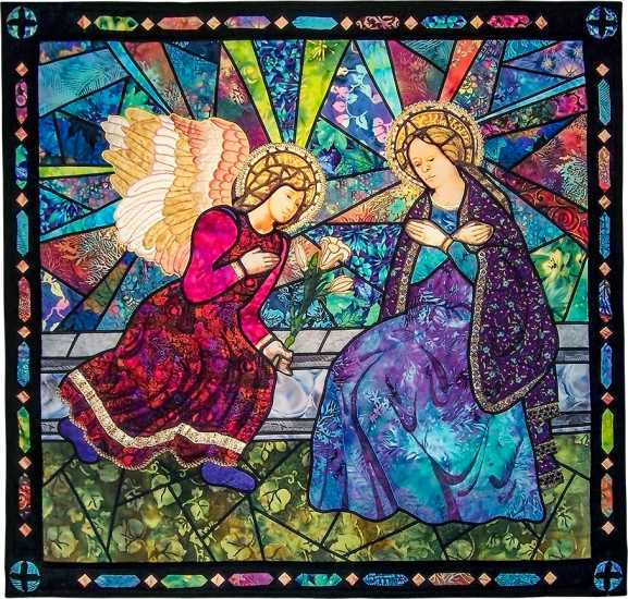 """God sent the angel Gabriel to Nazareth, a city in Galilee, to a virgin who was engaged to a man named Joseph, a descendant of David's house. The virgin's name was Mary. When the angel came to her, he said, """"Rejoice, favored one! The Lord is with you!"""" She was confused by these words and wondered what kind of greeting this might be. The angel said, """"Don't be afraid, Mary. God is honoring you. Look! You will conceive and give birth to a son, and you will name him Jesus."""