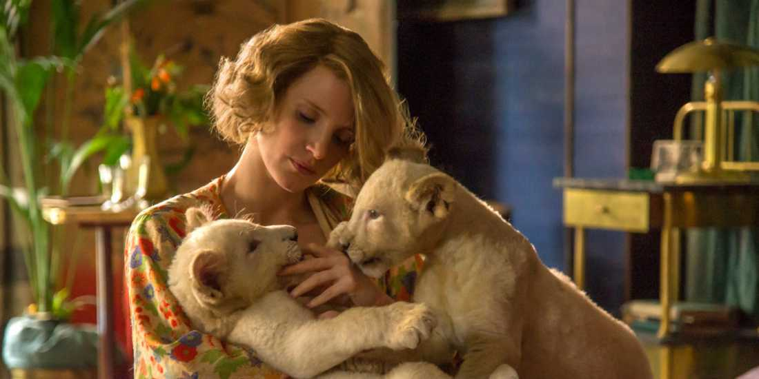 "Jessica Chastain in ""The Zookeeper's Wife"""