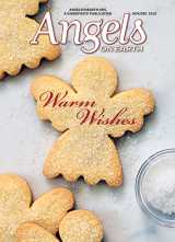 Alexandra Grablewski's photograph for the cover of the November/December 2019 issue of Angels on Earth depicts angel-shaped Christmas cookies.