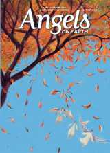 An artist's rendering of tiny angels descending from trees with autumn's falling leaves, from the cover of the September/October 2018 issue of Angels on Earth magazine