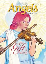 An angel illustration on the cover of the March-April 2015 edition of AOE
