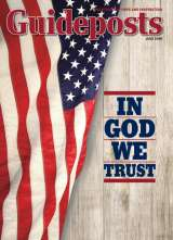 An American flag on the cover of the July 2015 Guideposts