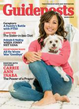 Carrie Ann Inaba on the cover of the March 2015 Guideposts