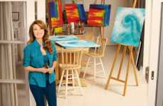 Jane Seymour, author of Among Angels, in her art studio