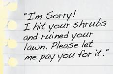 An artist's rendering of Jack's handwritten note of apology