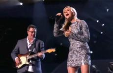 "Vince Gill and Carrie Underwood perform ""How Great Thou Art."""