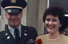 Donna Engeman with her late husband, John.