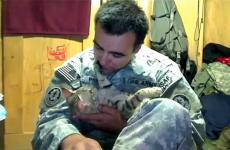 Staff Sgt. Jesse Knott and Koshka