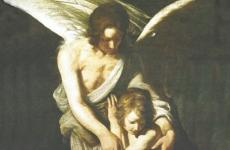 An angel comforting someone